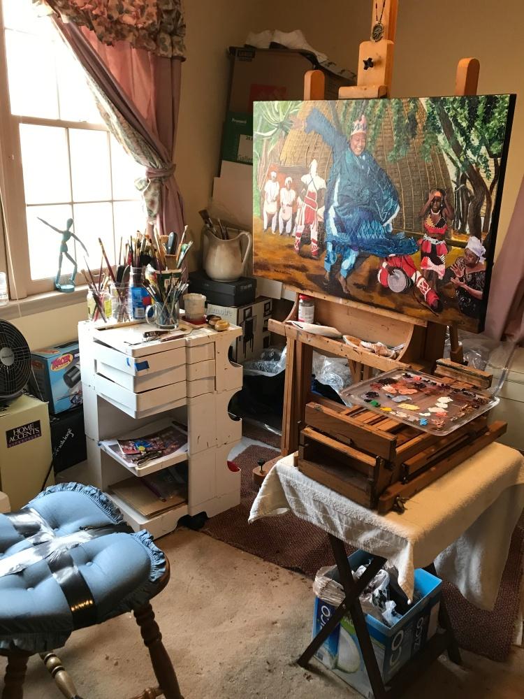 dancingman -studio work place